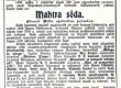 """Vilde, Eduard, """"Mahtra sõda"""", teade romaani ilmuma hakkamise kohta, Teataja 11. XI 1901, nr 2 - KM EKLA"""