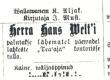 """Vilde, Eduard, [Teade Hans Veltile], """"Mahtra sõjaga"""" seoses, Teataja 1902, nr 53 - KM EKLA"""