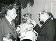 Valmar Adams, Leida Aleksejeva, Pavel Reifman V. Adamsi 75. juubelil 30.I.1974 TRÜ kohvikus - KM EKLA