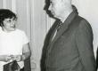 Valmar Adams ja Larissa Volpert V. Adamsi 75. juubelil 30.I.1974 TRÜ kohvikus - KM EKLA