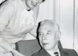 Valmar Adams abikaasa Leida Aleksejevaga oma 75. juubelil 30. I 1974. a TRÜ kohvikus - KM EKLA
