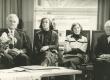 Eesti Nõukogude Kirjanike Liidu asutamise 40. aastapäeva koosolek 1983. a. okt -s. Arnold Rüütel, Debora Vaarandi, Minni Nurme ja Erni Hiir - KM EKLA