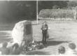 Johannes Aaviku mälestuskivi avamine Randvere Nurgal 30. aug. 1980. Kõneleb Jaan Eilart - KM EKLA