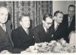 Johannes Aaviku 70. sünnipäev 1950. Vas.: Otto Pukk, Johannes Aavik, Valter Tauli, Reino Sepp - KM EKLA
