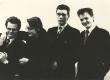 """Luuleteatri """"Varius"""" etendus """"Arbujate aegu"""". M. Jagomägi (H. Talvik), J. Kreem (P. Viiding), D. Põldroos (M. Raud) ja I.  Sarapuu (B. Kangro) 1988 - KM EKLA"""