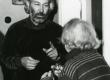Betti Alver ja Jaan Kaplinski poetessi 80. juubelil 23. nov. 1986. a. Koidula tn. 8-2 - KM EKLA