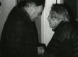 Betti Alver ja Heino Puhvel poetessi 80. juubelil 23. nov. 1986. a. Koidula tn. 8-2 - KM EKLA