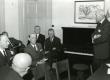 Eesti Komitee Asemike kogu koosolek. Kõneleb Aleksander Warma, par. 2. Karl Ristikivi, keskel Bernhard Mäelo - KM EKLA