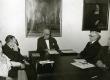 Eesti Rahvusfondi koosolek. Vas. 1. Adelaide Lemberg, 3. Arvo Horm, 4. Karl Ristikivi - KM EKLA