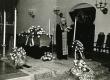 Karl Ristikivi matused Stockholmi Jakobi kirikus 17.08.1977. Kõneleb ülempreester N. Raag - KM EKLA
