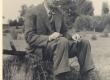 Friedebert Tuglas Ahja järve ääres 1938. a. - KM EKLA