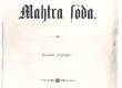 Vilde, Eduard, Mahtra sõda., Tln., 1902, kaas - KM EKLA