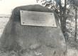 Friedebert Tuglas'e sünnikohta tähistav mälestuskivi Ahjal. 1971. a. - KM EKLA