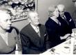 Joh. Aaviku 85. a. juubel 1965. a. Vas.: 1) Aleksandra Aavik, 2) Johannes Aavik, 3) Marie Under, 4) Artur Adson - KM EKLA