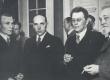 Kirjanduslike auhindade laureaadid 1937. A. Kivikas, J. Semper, F. Tuglas, K. A. Hindrey - KM EKLA