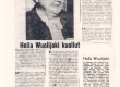 "Hella Wuolijoki, tema kohta: J. Pennanen ""Hella Wuolijoki kuollut"", ""Vapaa Sana"" 3. II 1954 - KM EKLA"