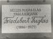 Mälestustahvel Fr. Tuglase maja seinal Viljandis - KM EKLA