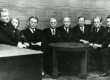 M. Metsanurga 60. sünnipäev. 1939. a. Vas.: A. Jakobson, E. Tuglas, Fr. Tuglas, M. Metsanurk, K.-E. Sööt, H. Raudsepp, P. Vallak, M. Jürna. - KM EKLA