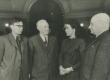 Vasakult: 1) L. Oðanin, 2) N. Tihhonov, 3) Debora Vaarandi, 4) August Alle Eesti dekaadil Moskvas 1950 - KM EKLA