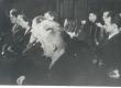 ENSV Kirjanike Liidu asutamine 1943. I rida vasakult: 2) Paul Kreedo, 3) Hans Kruus, 4) Erika Sõgel, 6) Debora Vaarandi, II rida: 1) Karl Taev, 2) Liidia Toom, 3) Aira Kaal, III rida: 1) Johannes Semper, 2) Lembit Lüüs, 3) Mihkel Jürna - KM EKLA