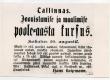 """Hans Laipmann (Kuulutus: Tallinnas. Joonistamise ja maalimise poole-aasta kursus.) """"Teataja"""" nr 157/ 19.VII 1903, lk 1 - KM EKLA"""