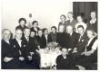 Hermann Stock, August Mälk, Johannes Aavik, Marie Under, Artur Adson, Berta Under, Dagmar Stock, Hedda Hacker jt. Koosviibimisel M. Underi 70. sünnipäeval 27.03.1953 - KM EKLA