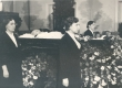 """Ernst Peterson-Särgava matus 16. IV 1958. - Kirst """"Estonia"""" kontserdisaalis - KM EKLA"""