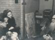E. Peterson-Särgava vestlemas Kirjandusmuuseumi töötajate A. Vinkeli ja O. Niinemäega 7. X 1957. a. - KM EKLA