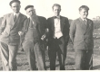 Karl Särgava, E. Peterson-Särgava, keegi tuttav ja Peeter Solba (Särgava tütrepoeg) - KM EKLA