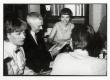 Koosviibimine Ivaskite vastuvõtuks Helmi Elleri kodus Karlavägenil Stockholmis 15.07.1968. Vas.: Helga Nõu, Karl Ristikivi, Astrid Ivask, Ivar Ivask (seljaga) - KM EKLA
