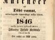 Maarahva Kasuline Kalender 1846