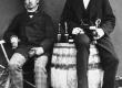 Kitzberg, A. (vasakul) Pöögle-Polli ajajärgul - KM EKLA