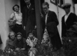 Veljestolased Elvas Aleksander Kaelasel külas. Istuvad: E. Lassen, A. Saar, K. Merilaas. Seisavad: S. Niilend, A. Kaelas, A. Sang, I. Lepassaar [1930. a. II pool] - KM EKLA