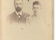 Rõõsa, A. Kitzbergi naise õde, oma esimese mehe Aleksander Jürgensoniga  - KM EKLA
