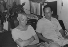 Karl Ristikivi sõbraga [Lembit Muda] [1960. aastatel]
