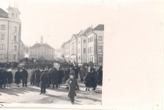 Anna Haava matus 17.III. 1957 – ärasaatmine Tartu tänavatelt