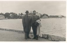 K. E. Sööt ja dr J. Fazekas Haapsalu supelrannas, 12. VII 1939