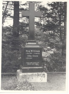 Eisen'i, M. J. Haud Tartu kalmistul.