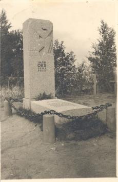 Jaan Oks'a matusepaik Tallinnas Rahumäe kalmistul