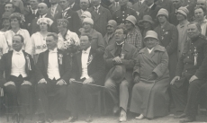 L. Neumann, Juhan Aavik, A. Kasemets, r Kull ja Miina Härma üldlaulupeol [1928]