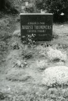 August Toomingas'e (Kusta Toom) haud Rõngu kalmistul