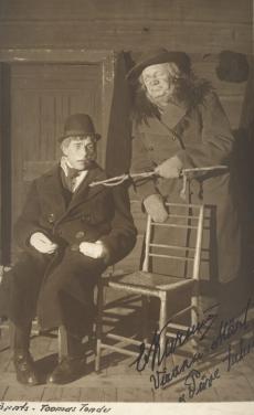 "A. Kitzbergi ""Püve talus"" ""Estonias"" 1926. T. Tondu (Ernst)ja E. Kurnim (Viraku-Märt)"